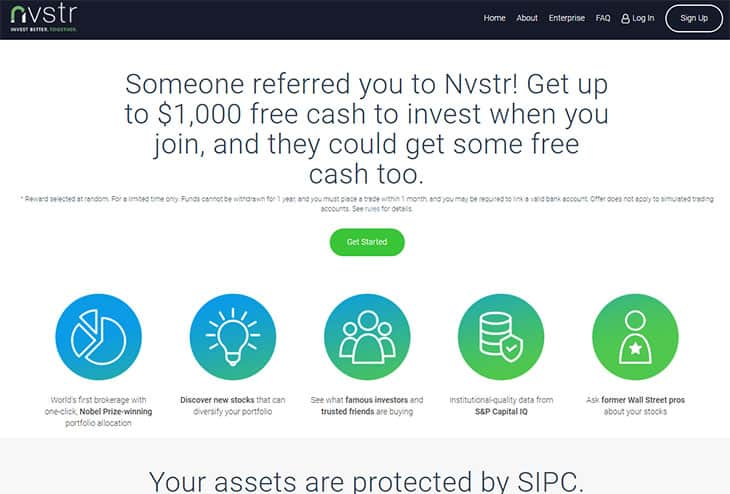 Nvstr review - sign up bonus