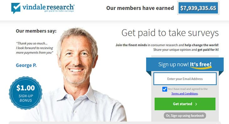 Vindale Research free money app