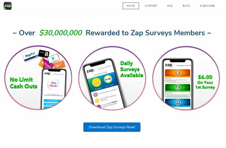 free money app Zap Surveys