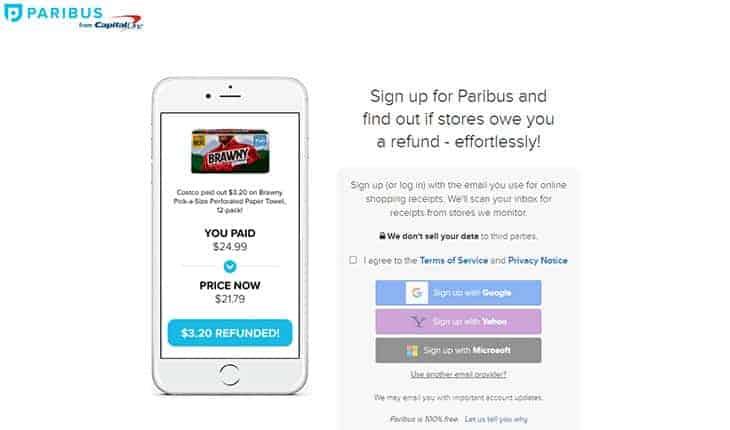 Paribus free money saving app