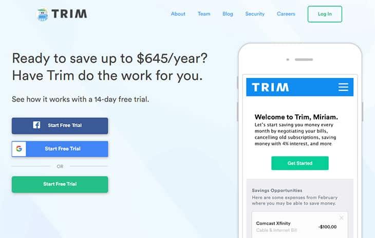 trim - free money savings