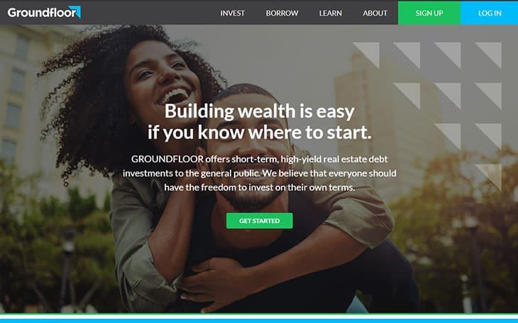 Groundfloor review - website homepage