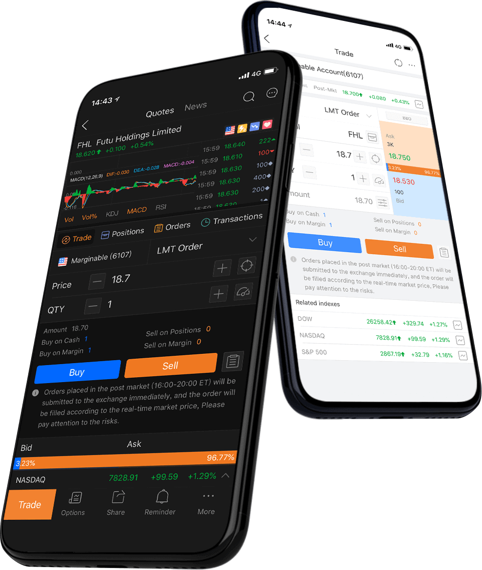 Moomoo apps on desktop, iOS and Android