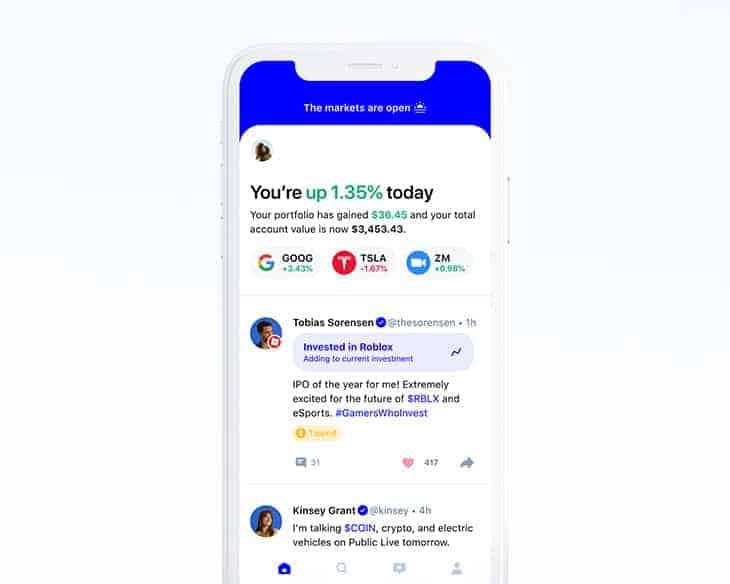 Public app the social investing app