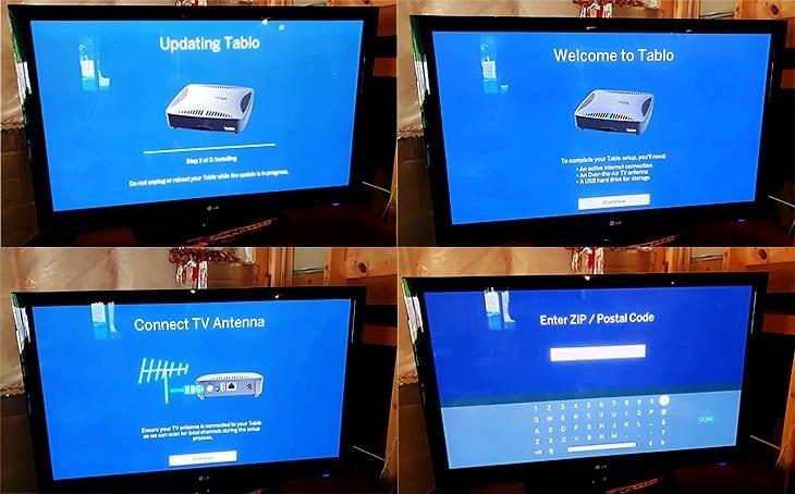 Tablo Dual HDMI DVR setup process