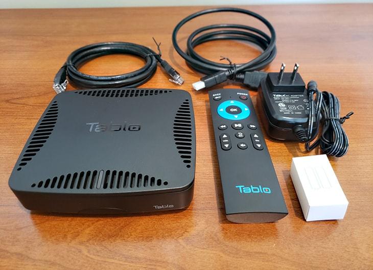 Tablo Dual HDMI DVR box contents